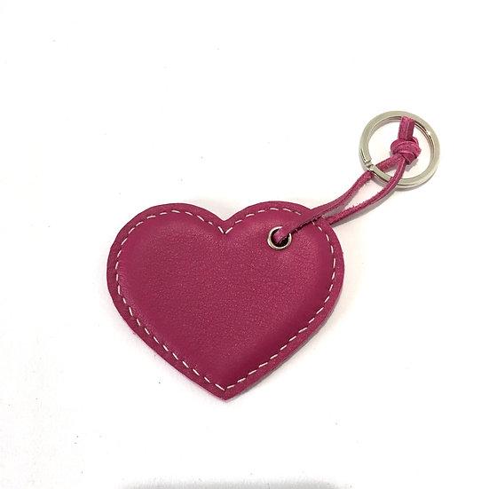 Porte-clés cœur fuchsia