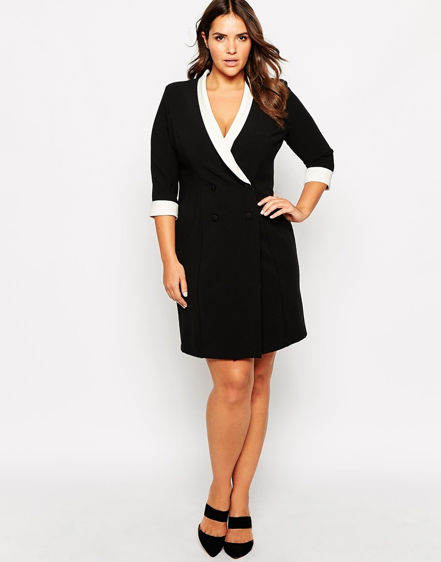 FF Black dress with white detail
