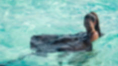 Girl in Water at Stingray City Grand Cayman