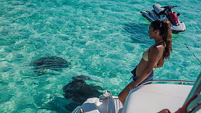 A jet ski is included free with all Aqua Watersports chartes on Grand Cayman