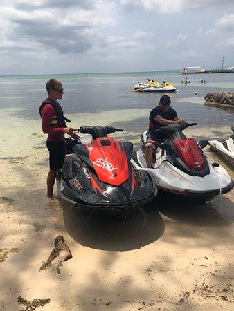 Visiting Kaibo on Jet Ski Cayman