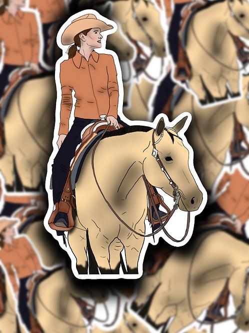 Buckskin Babe Sticker