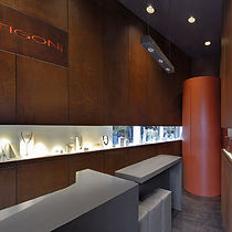 Stavropoulou Architects, Jewellery shop in Kifisia, Interior view