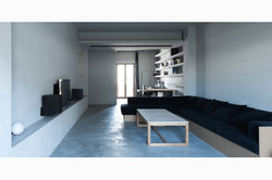 Living room renovation, apartment refurbishment, design, flat renovation, Stavropoulou architects, g