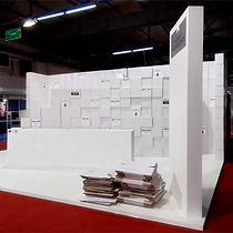 Stavropoulou Architects, Recycled exhibition stand Domaine Antonopoulos, photo