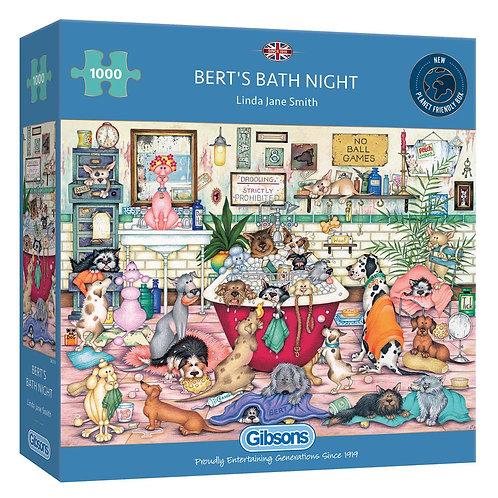 BERT'S BATH NIGHT 1000PC PUZZLE
