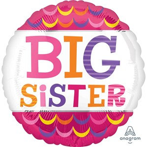 "Big Sister Pink 18"" Foil Balloon"