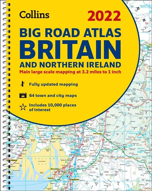 2022 Collins Big Road Atlas Britain : A3 Spiral