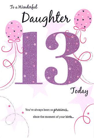 Daughter 13th Birthday