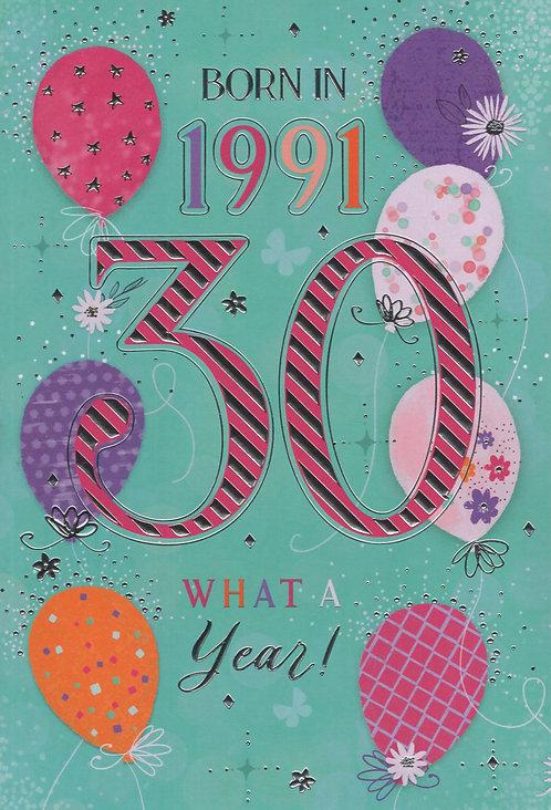 Born In 1991 Age 30