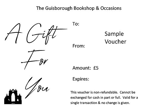 Gift Voucher Available £5 - £20