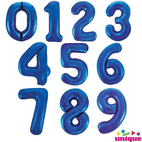 "Blue 34"" Foil Number Balloons"