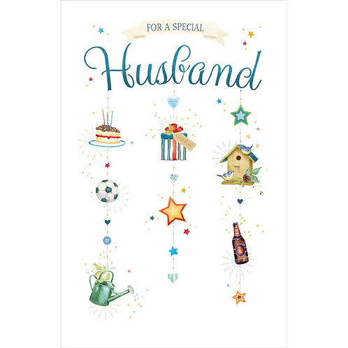 For a Special Husband Birthday Card