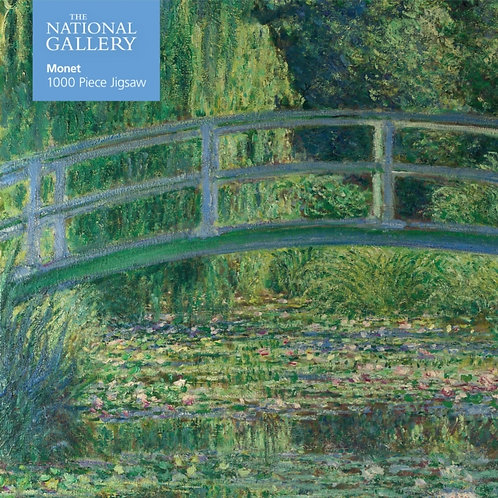 Adult Jigsaw National Gallery Monet: Bridge over Lily Pond 1000