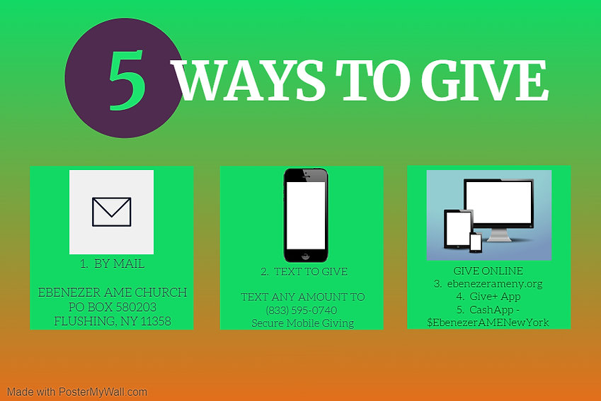 Copy of Ways to Give - Made with PosterM