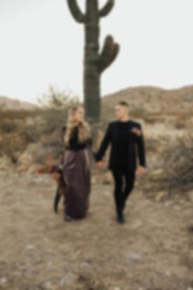 Bride and Groom in the Arizona Desert