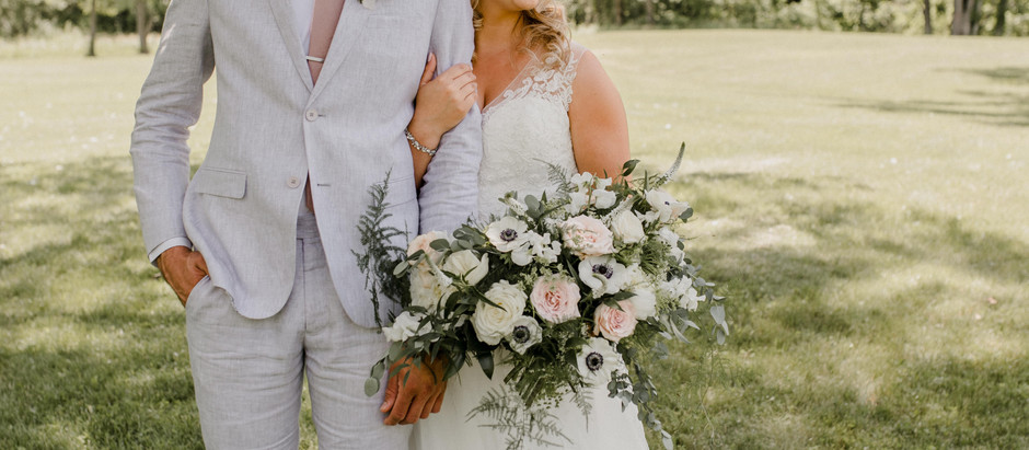 Romantic Summer Trout Farm Tent Wedding in Central Elgin, Ontario