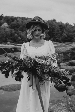 Fall elopement at the Petawawa River in Petawawa, Ontario. Photo by Holly Anne Portraiture_