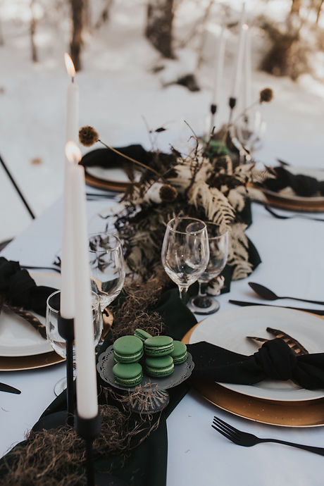 Woodland winter styled elopement at Peta