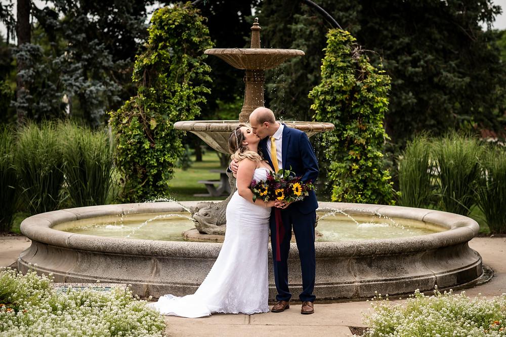 Summer Jewel-toned Wedding in Kitchener, Ontario. Photo by Magda Spurek