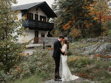 Intimate Fall Wedding at The Wakefield Grand in Wakefield, Quebec.