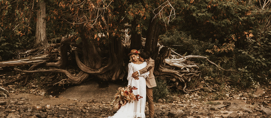 Vintage Fall River Elopement Inspiration in Petawawa, Ontario