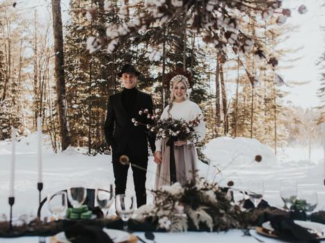 Petawawa Ontario Intimate Woodland Winter Elopement Inspiration