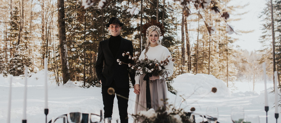 Petawawa Ontario Intimate Woodland Winter Elopement Inspiration