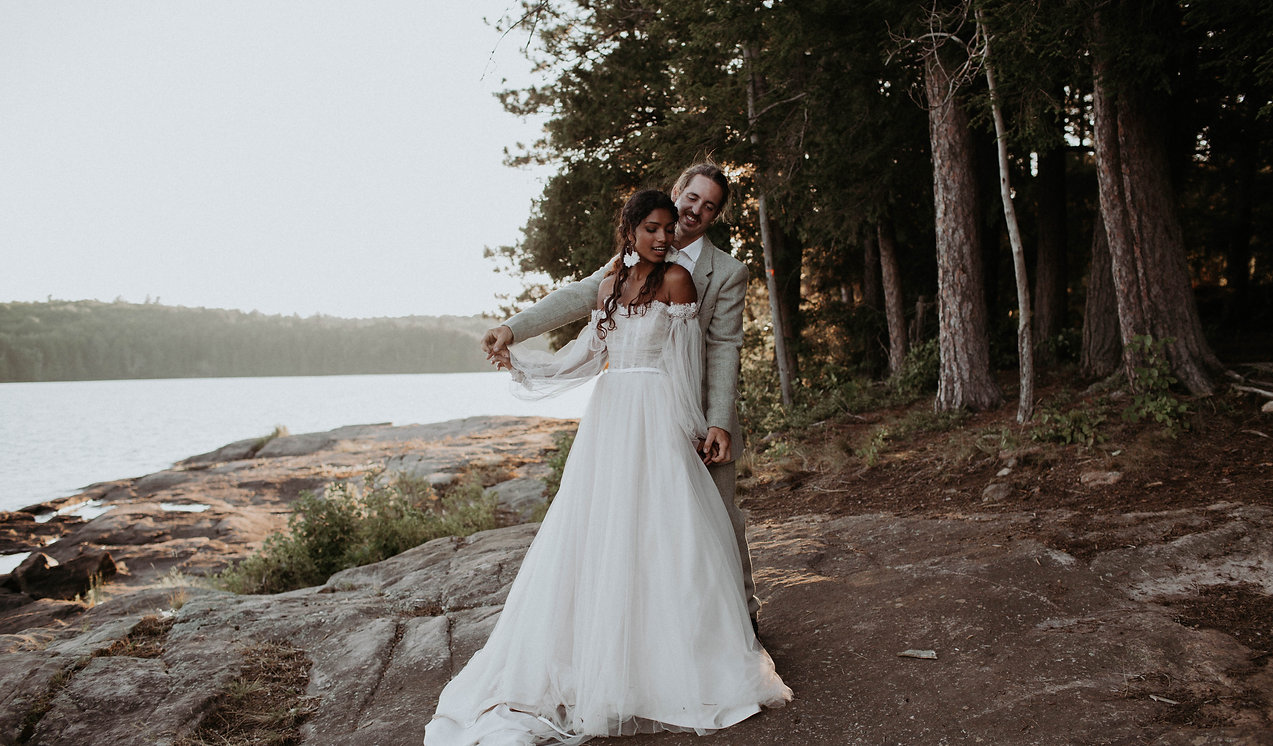 Earthy Vibrant Ombre Elopement at Silent