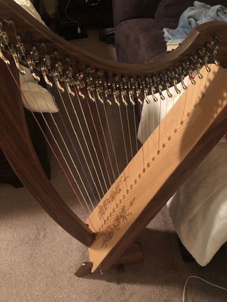 Triplett 25 string Lap Harp for sale.