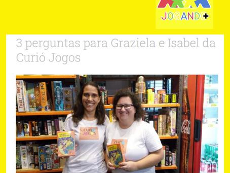 """Fundadoras da Curió respondem as """"3 perguntas"""" do site Jogando Mais"""