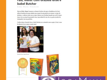 Entrevista com Isabel Butcher e Graziela Grise no site Joga Mana