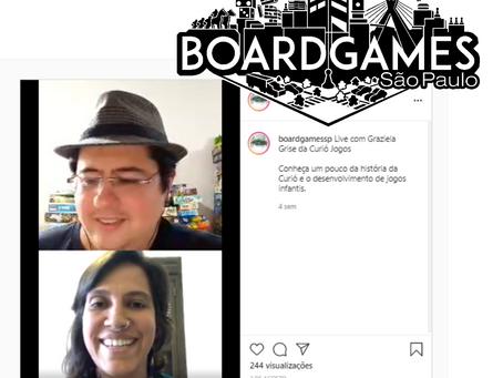 Curió Jogos participa de live sobre jogos para crianças no Instagram Boardgames SP