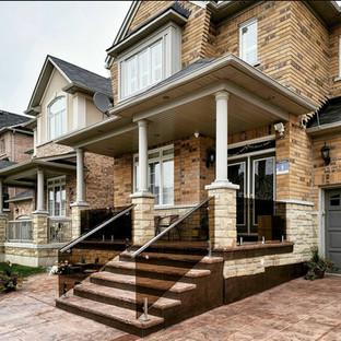 Bronze tinted porch railing