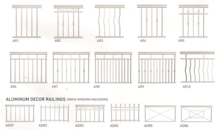 Railings, Picket, aluminum, thornhill