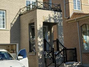 Decorative railing, porch railing