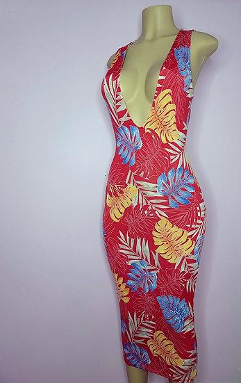 Hawaiian Plunge Dress