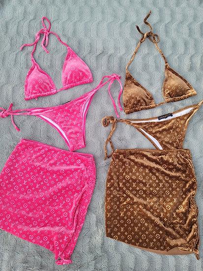 Velvet Queen Set - Custom Bikini + Skirt