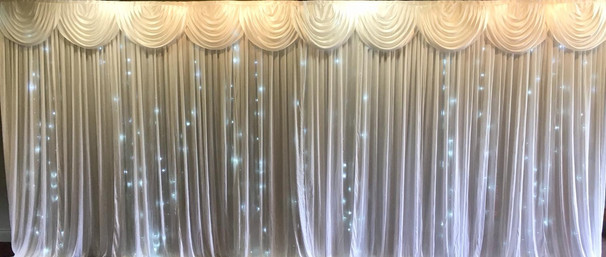 White Starlight backdrop with Swag 6m