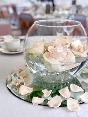 Rose Fishbowl Centrepiece