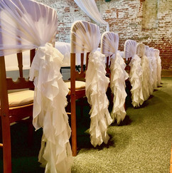 White Ruffles on Top Table