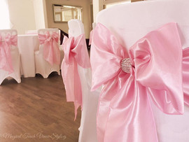 Pink Diamante Bows