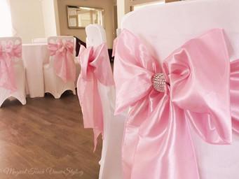 Pink & Bling Taffeta Sash