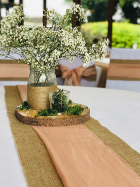 Hessian & Blush Pink Runner