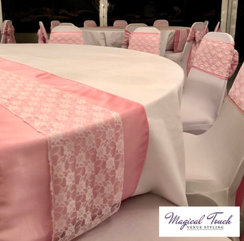 Pink Taffeta with White Lace