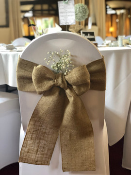 Hessian Bows with Gypsophilia