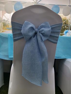 Blue Linen Sash