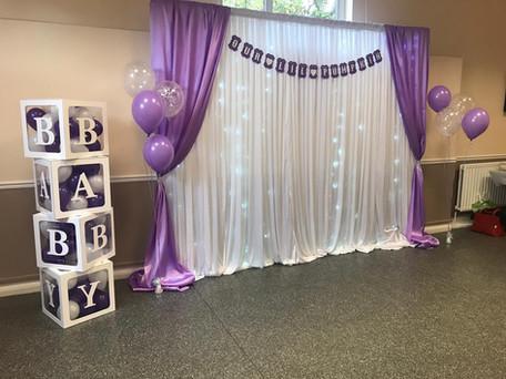 Lilac Starlit Backdrop