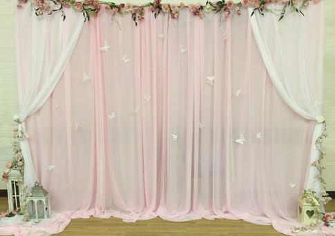 Pink Starlit Backdrop