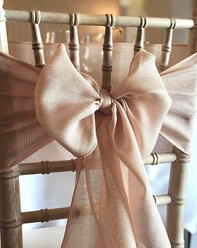Champagne Linen Chair Sash